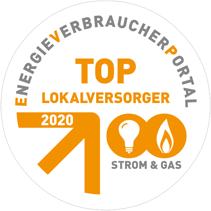 Plakette Top-Lokalversorger 2020 Strom & Gas