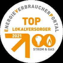 Energie Verbraucherportal - TOP Lokalversorger 2021