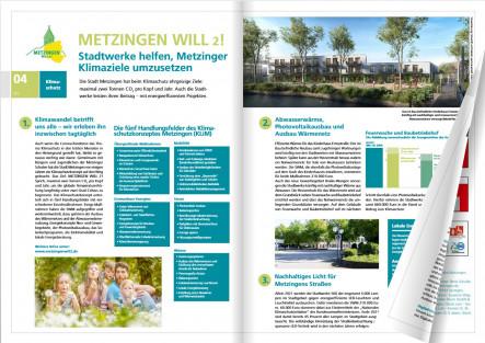 Seite 4 und 5 des Stadtwerke Metzingen Magazins